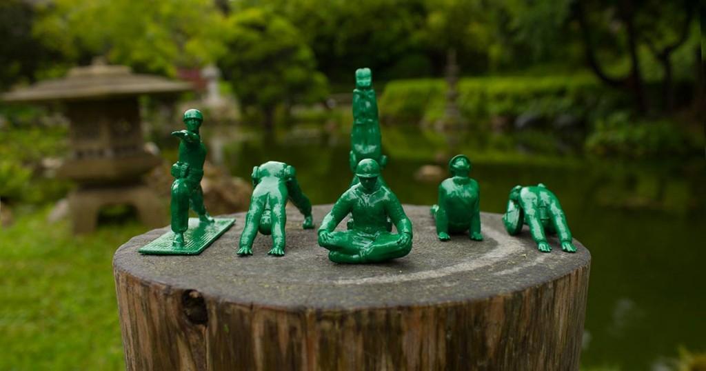 Green Army Men Doing Yoga? Yep, It's a Thing.
