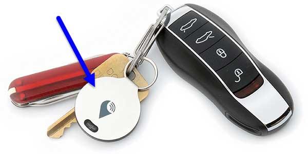 TrackR on Keychain
